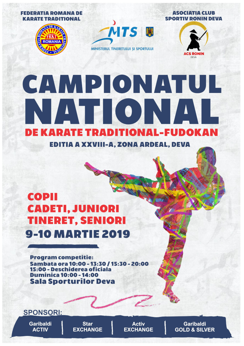 Campionatul National de Karate Traditional Fudokan 2019 zona Ardeal