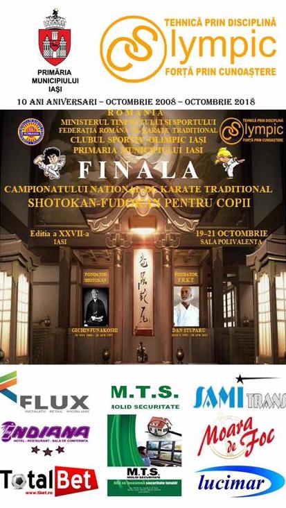 Finala Campionatului National de Karate Traditional pentru Copii 2018