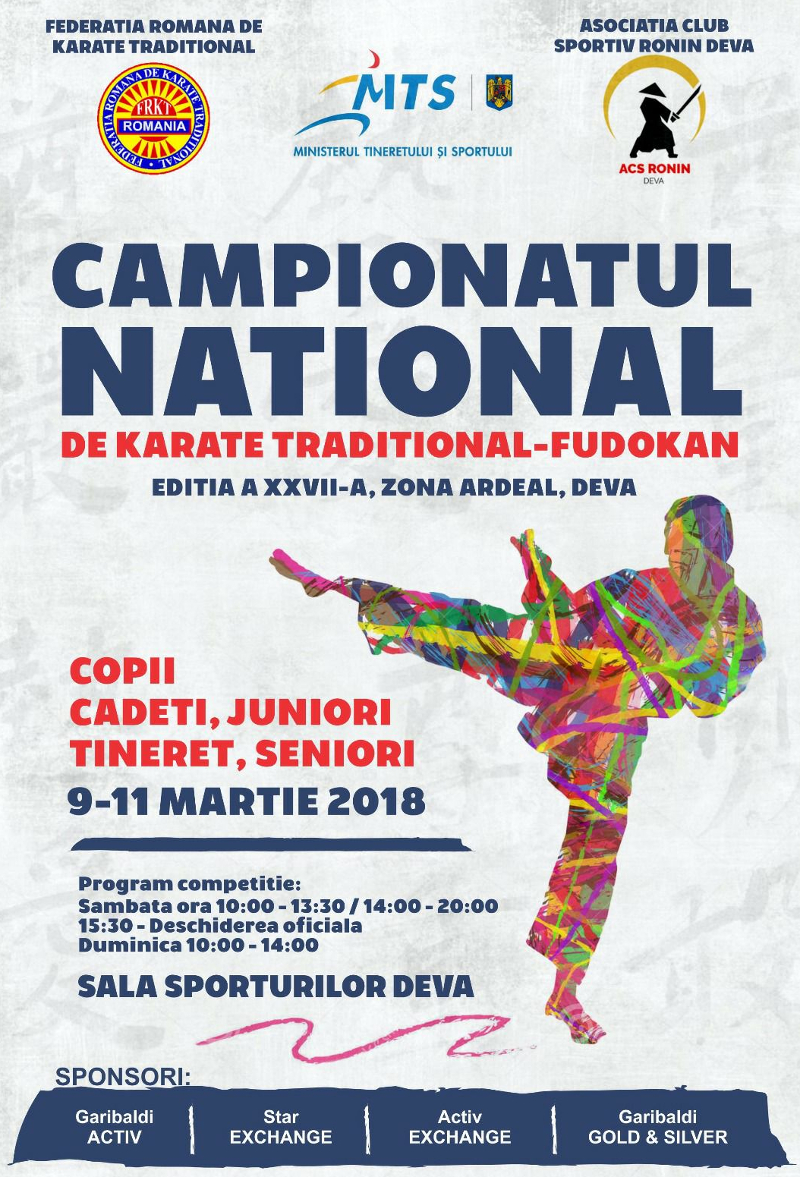 Afis zona Ardeal - Campionatul National de Karate Traditional 2018