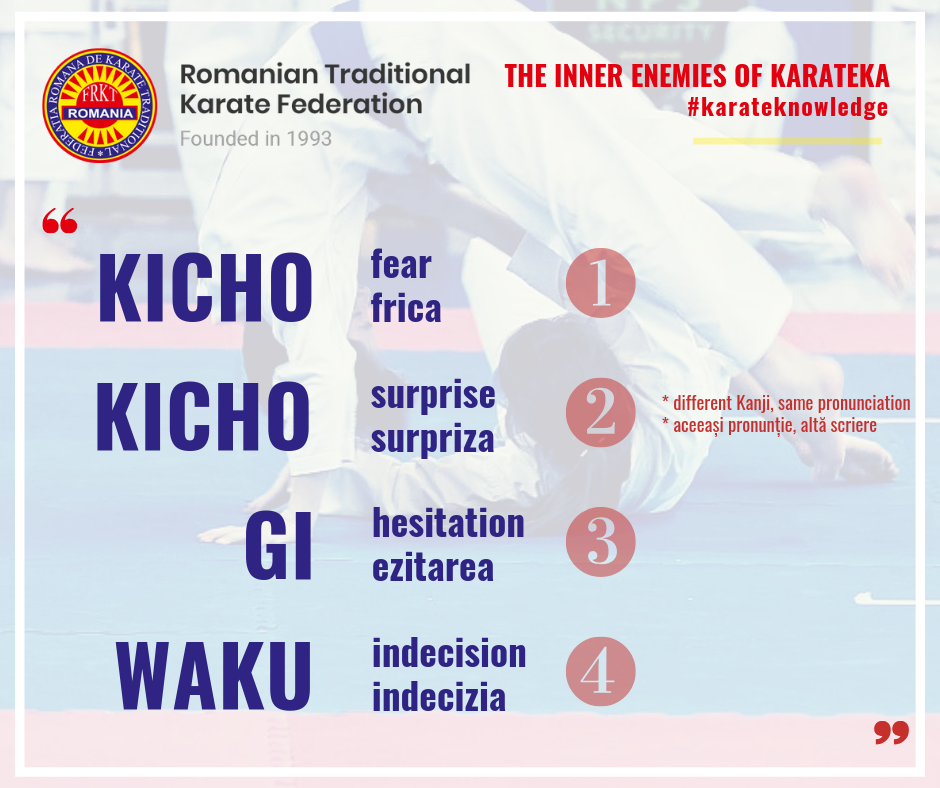 The inner enemies of karateka - Traditional Karate Knowledge - RTKF
