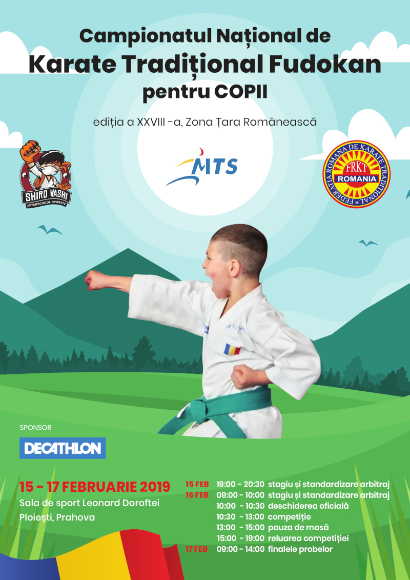 Campionat National de Karate Traditional pentru Copii - 2019 - zona Tara Romaneasca