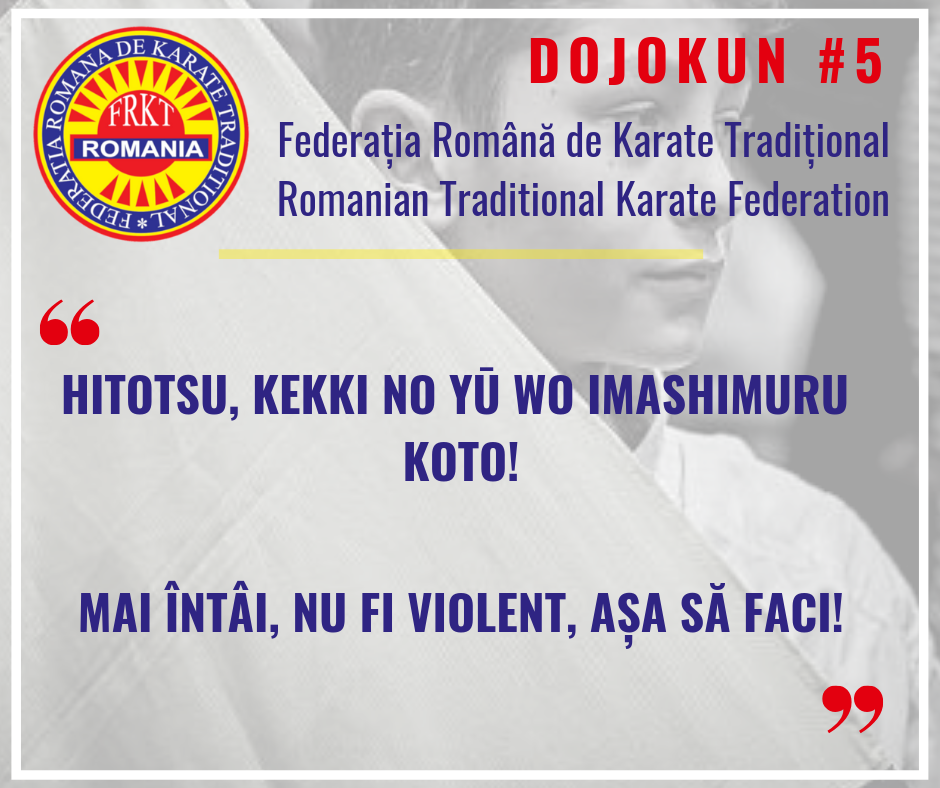 Dojokun #5 - Traditional Karate