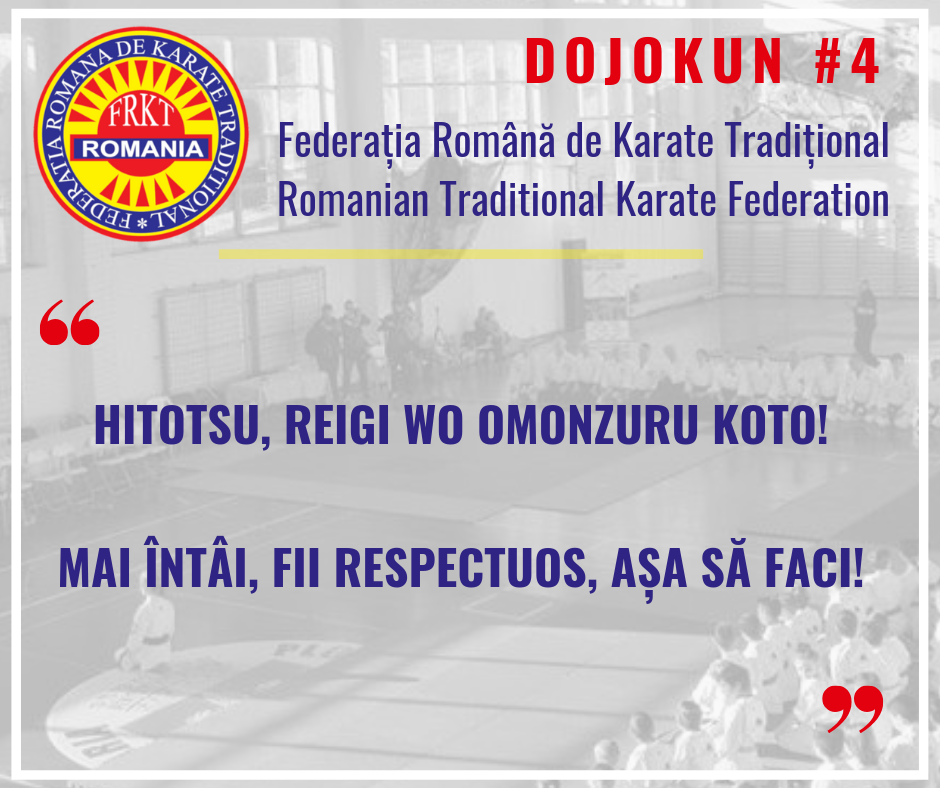Dojokun #4 - Traditional Karate