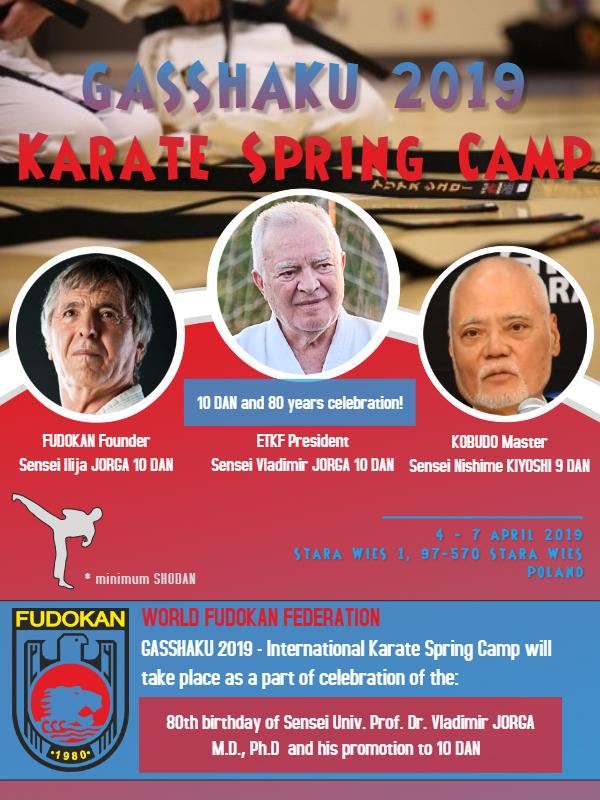 GASSHUKU 2019 - Karate Spring Camp - Vladimir JORGA 10 DAN