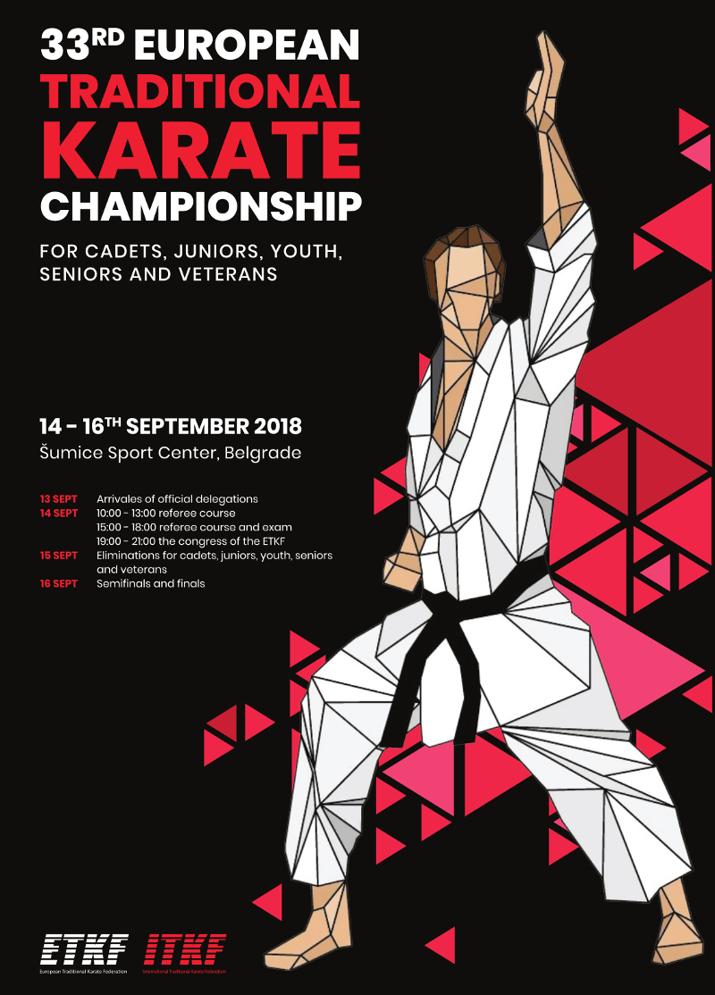33rd European Traditional Karate Championship for cadets, juniors, youth, seniors and veterans
