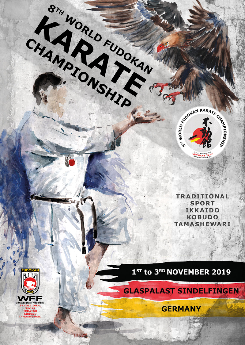 8th World Fudokan Karate Championship 2019 - Official Poster