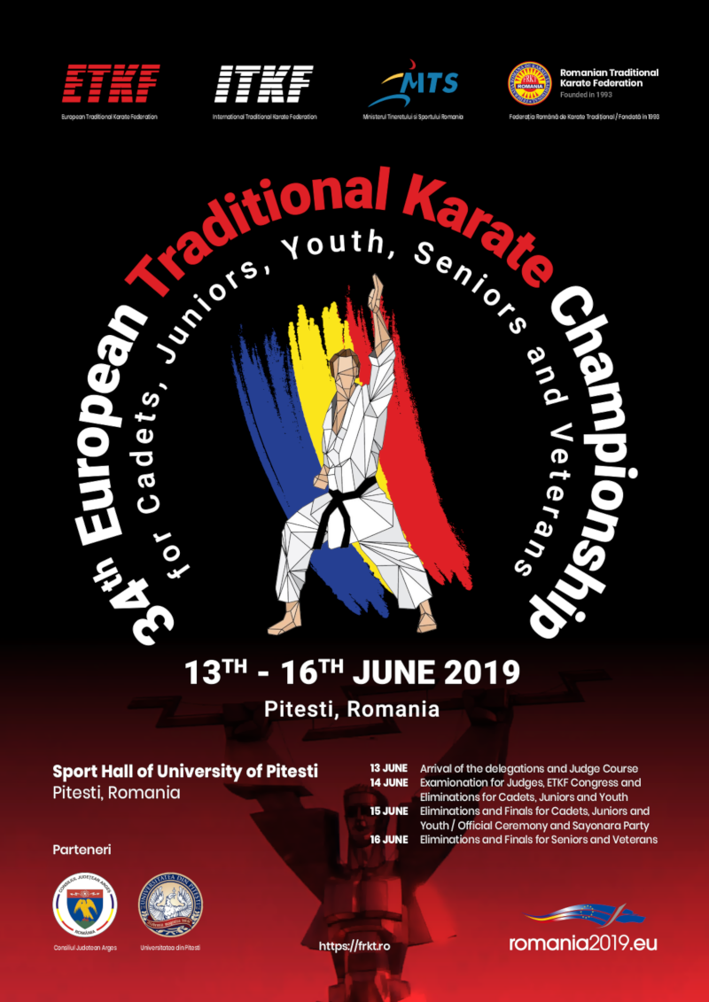 34th European Traditional Karate Championship - Pitesti, Romania 2019